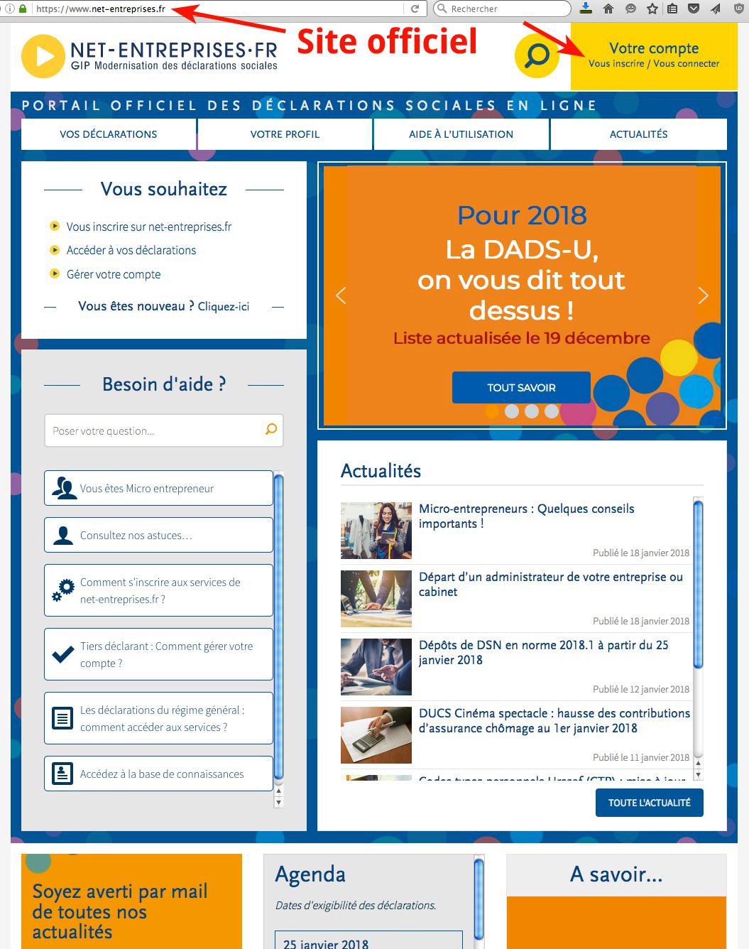 Accueil net-entreprises.fr